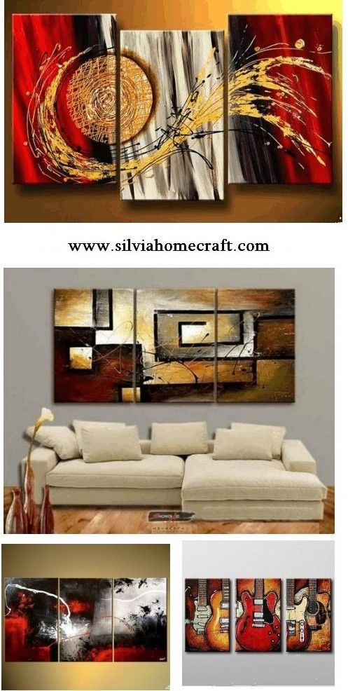 3 Piece Wall Art Abstract Art For Sale Canvas Painting