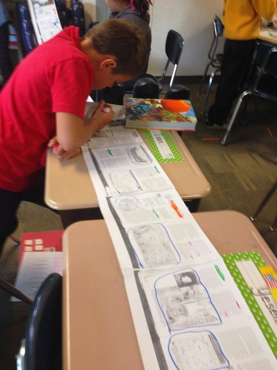 5th grade boy works with details in full context. The key is full context. Thanks to @suzihesser for featuring my work! #scrolls #textmapping