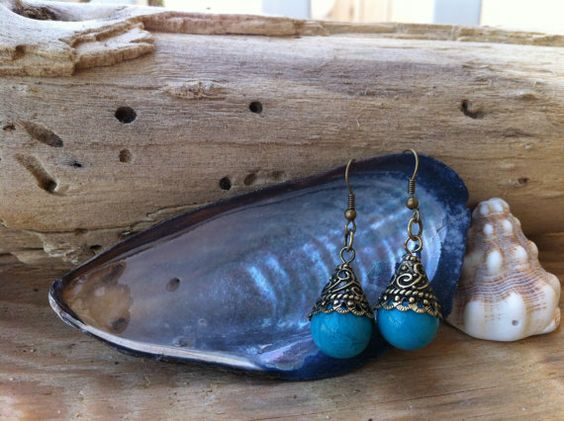 Turquoise Dangle Earrings. Buy on Ashley Morgan's Sweet Boutique facebook page!