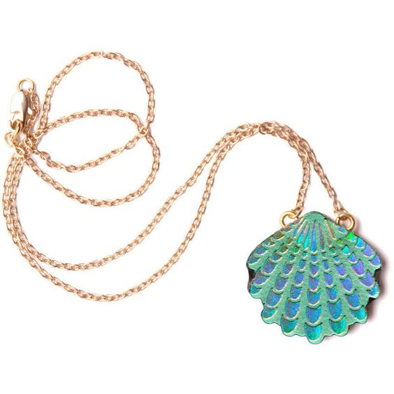 rosita bonita wave shell pendant . green/lilac holographic (525 ARS) ❤ liked on Polyvore featuring jewelry, necklaces, accessories, mermaid, bags, pendants, pendant jewelry, seashell jewelry, green pendant and shell pendant