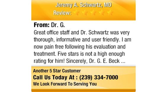 Great office staff and Dr Schwartz was very thorough, informative - staff evaluation