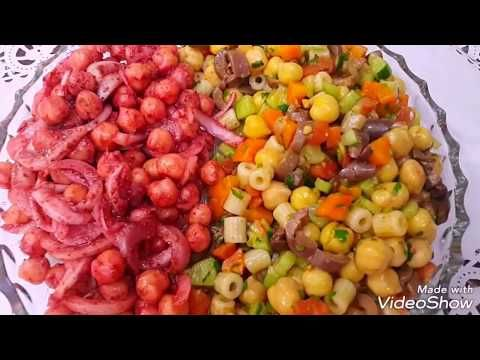 مقبلات المطاعم العراقية البيروتية حمص بالسماق السماق الاصلي والمغشوش وأي نوع حختار Iraqi Appetizer Food Cooking Salad