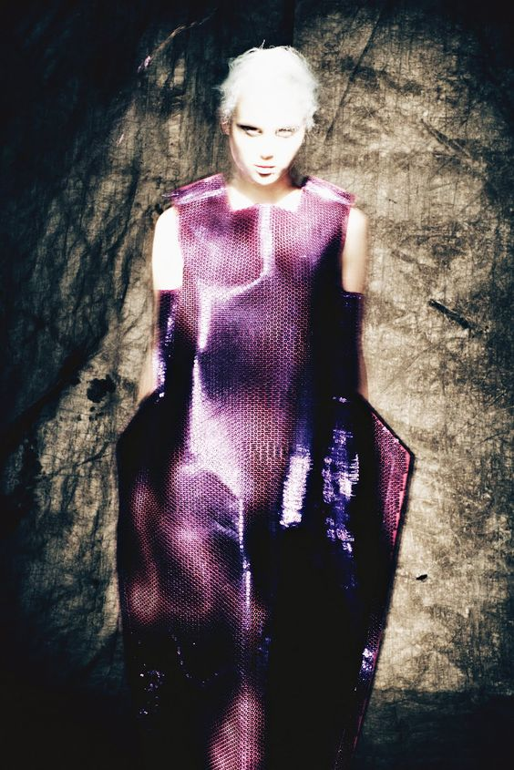 Covered in Comme des Garçons, Anais Pouliot depicts a creepy woman hiding in the shadows. The looks for Purple Fashion were styled by Sheila Single and photographed by Paolo Roversi. An Empire Of Intuition was an editorial for the publication's Fall/Winter…