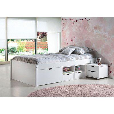 Homestead Living Funktionsbett, 90 × 200 cm mit Stauraum