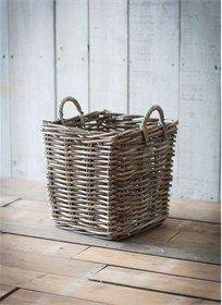 Small square log basket