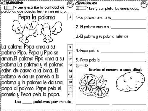 Lectoescritura 90 Fichas Completa Leo Y Escribo Las Silabas Orientacion Andujar Lectura De Comprension Lectura Y Escritura Leer Y Escribir