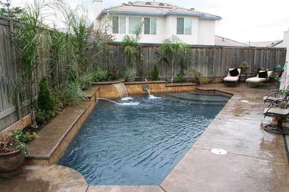 Pool designs for small backyards pool and spa builder sacramento new pool construction pool for Sacramento swimming pool builders