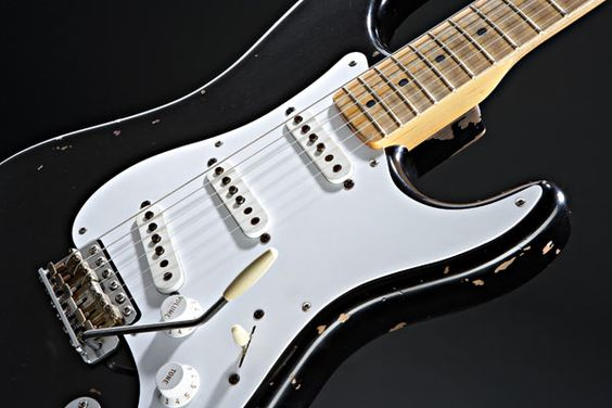 """""""Blackie"""" perhaps one of the most famous guitars of all time. Fetched nearly a million dollars at Christie's when it was auctioned for Crossroads. Blackie's the reason I love pawnshop guitars."""