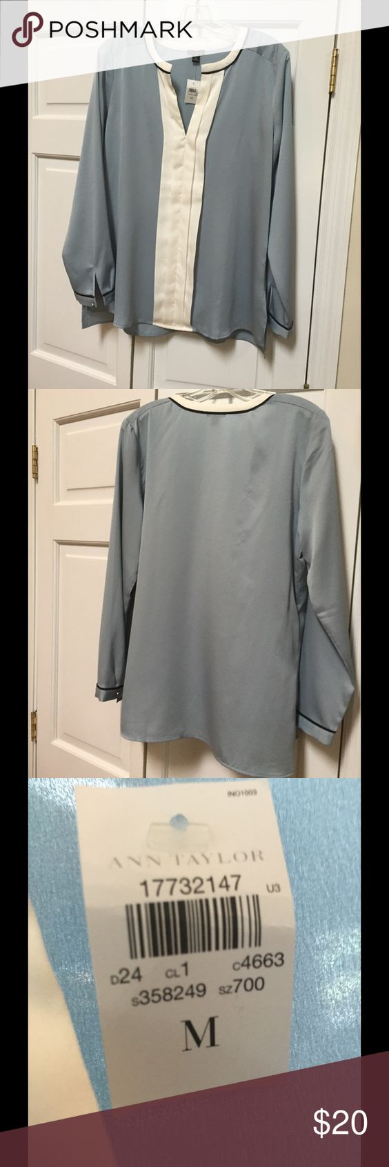 Ann Taylor blouse Beautiful blouse - three quarter sleeves -lays beautifully or can tuck in. Ann Taylor Tops Blouses