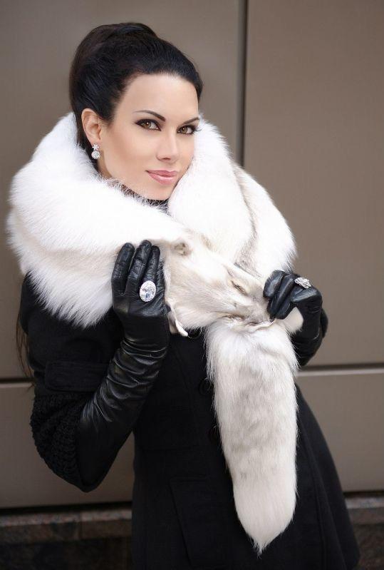 Fur Lover | White Furs | Pinterest | High boots, Gloves ...