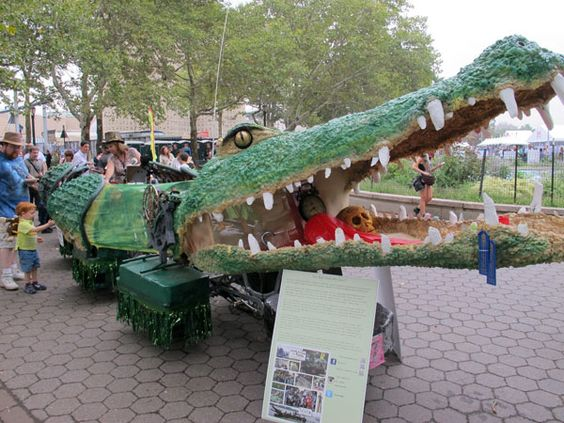 This 51-foot crocodile is a bicycle-powered kinetic sculpture. Tick Tock the Croc was built by a group of friends from Anne Arundel County, Md., for the Baltimore Kinetic Sculpture Race last May. Based on Captain Hook's reptilian nemesis from Peter Pan, this croc is the longest sculpture ever to compete in the race. As it wriggles by you, smoke shoots from its nostrils and music bellows from its chest.   - PopularMechanics.com