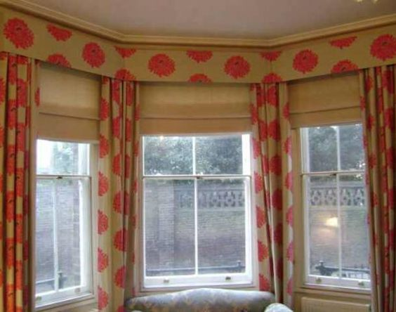 window treatments bay window treatments and bow windows on pinterest. Black Bedroom Furniture Sets. Home Design Ideas