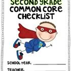 Be a Common Core Superhero!  Use this color coded checklist to document when you have taught to the second grade Common Core Standards.  Keep i...