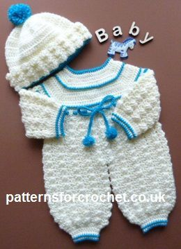 Free Baby Crochet Pattern Rompers And Bobble Hat Usa Boy