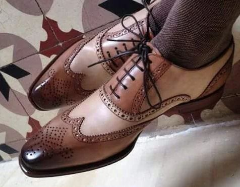 Chic Mens Brogue Lace Up Leather Formal Dress Oxfords Ankle boots Wingtip Shoes