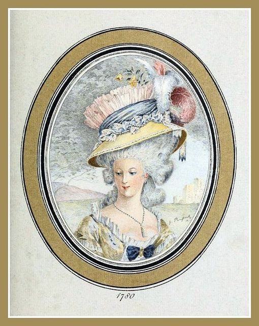 Hats by Madame Bertin  (Milliner to Marie Antoinette & the French Court) 1780