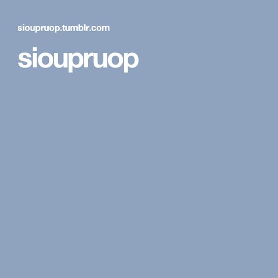 sioupruop