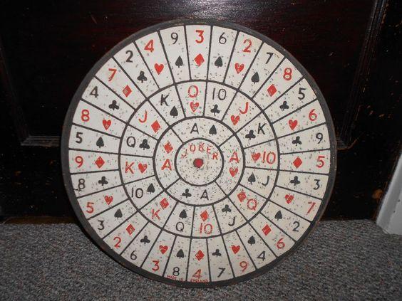 Vintage 2 Sided Dart Board Cards / Baseball Game Pub Carnival Man Cave England
