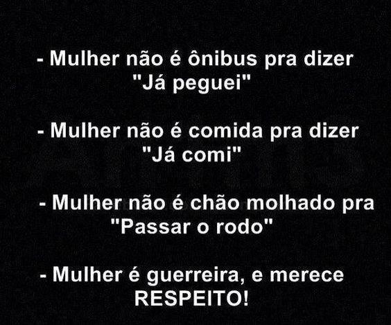 #mulher #respeito