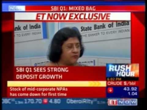 SBI Chairman Ms. Arundhati Bhattacharya talks to ET Now after SBI's Q1FY...