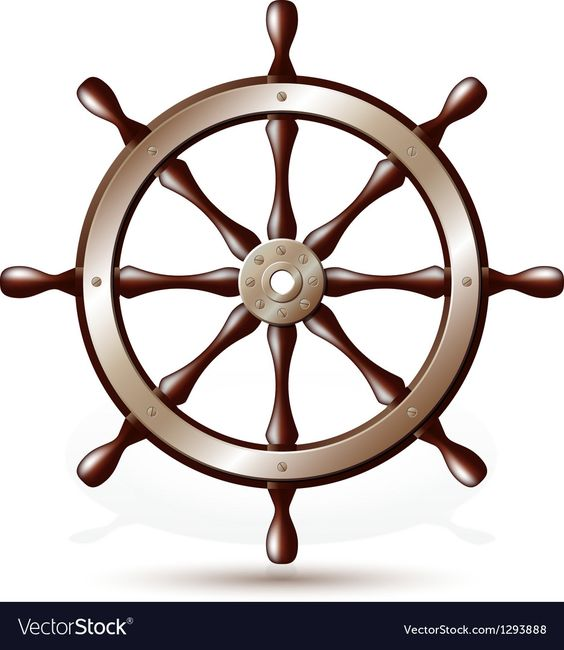 Steering Wheel For Ship Isolated On White Background Vector Illustration Download A Free Preview Or High Quality Adobe Ship Vector Boat Wheel Steering Wheel