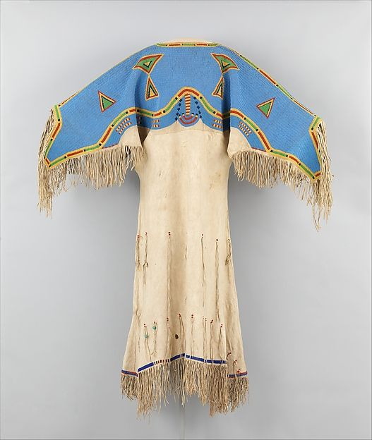 Woman's Dress Date: ca. 1880 Geography: United States Culture: Sioux (Teton) Medium: Native-tanned leather, glass beads