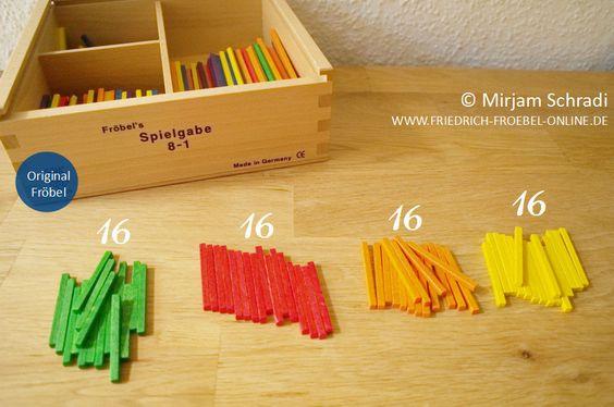 Fröbel-Material zum Mandala legen mit Kindern - Spielgaben 8