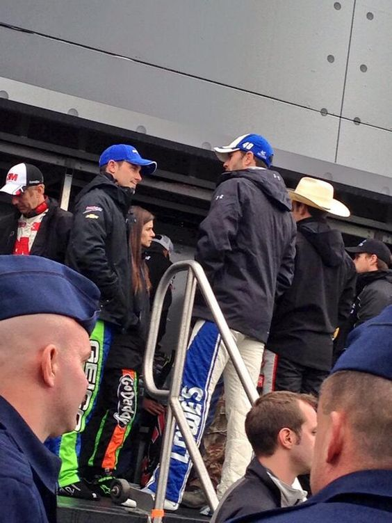 Jimmie Johnson and Casey Mears at Texas April 2014