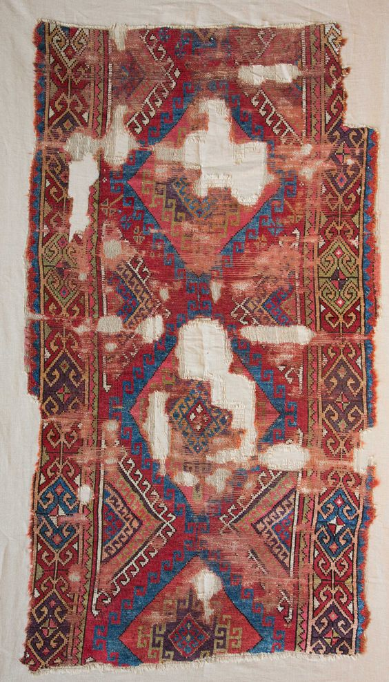Central Anatolian Rug Fragment 19th c.