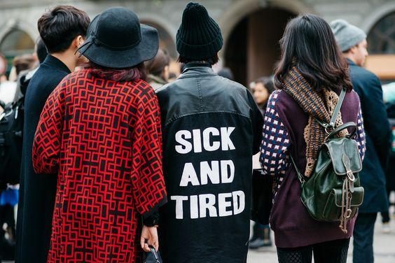 Street Style en Milan Fashion Week, febrero 2015 © Jessie Bush