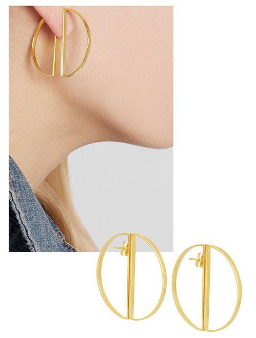 Boucles d'oreilles d'été: les néo créoles dorées de Maria Black