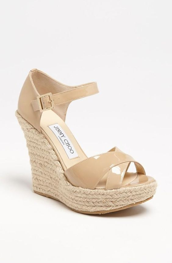 Coffee Wedge Sandals.