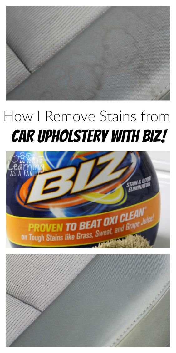 How I Remove Stains from Car Upholstery with Biz! #Ad