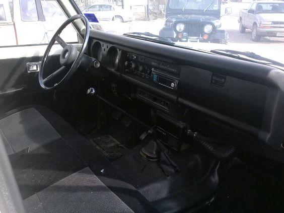 Interior, 1976 landcruiser.  My CJ7 in the back ground thru the windshield