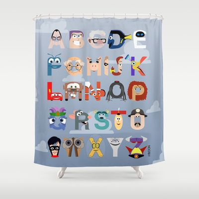 P is for Pixar (Pixar Alphabet) Shower Curtain | Products ...