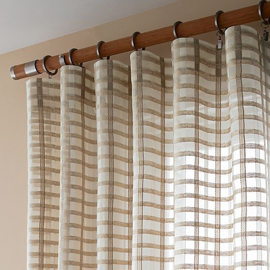 Ross Natural Sheer Curtain Panels in Curtains | Crate and Barrel ...