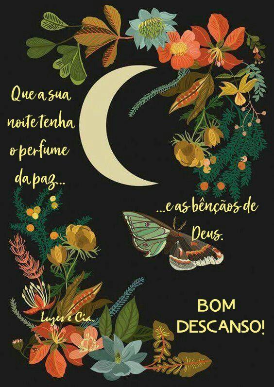 Boa Noite Frase Que A Sua Noite Tenha O Perfume Da Paz Com