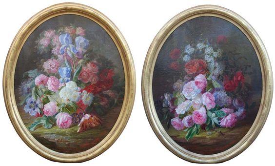 Pierre Gontier still life of roses