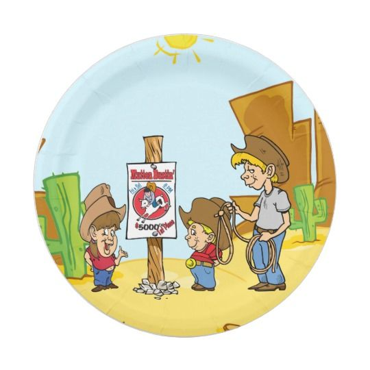 Western Mutton Bustin Cowboy Cowgirl Kids Party 7 Inch Paper Plate  sc 1 st  Pinterest & Western Mutton Bustin Cowboy Cowgirl Kids Party 7 Inch Paper Plate ...