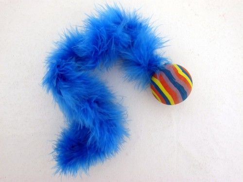 Cat Toy Rubber Ball With Tail