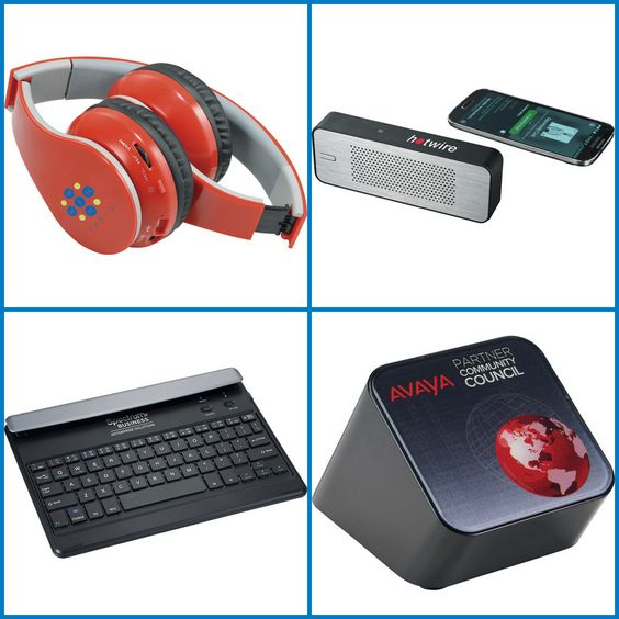 Promotional Products - Customized Bluetooth Speaker, Keyboard and Earphone from HotRef.com