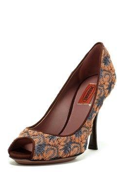 Missoni Peep Toe High Heel