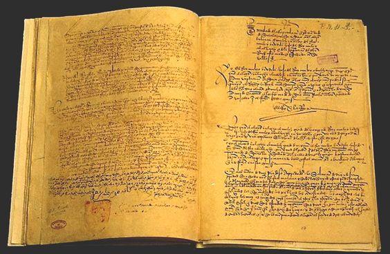 TEXTO DE LAS CAPITULACIONES O DE PRIVIELGIO RODADO ENTRE BOABDIL Y LOS REYES CATÓLICOS.Texto de Simancas, 1491