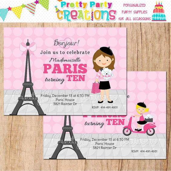 Hey, I found this really awesome Etsy listing at http://www.etsy.com/listing/170408607/paris-girl-party-invitation-you-print