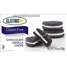 Glutino Gluten Free Chocolate Vanilla Creme Cookies - These are really good.  I think they are better than Oreos.