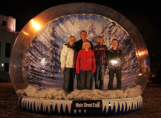 Giant Snow Globe - Downtown Holiday Event