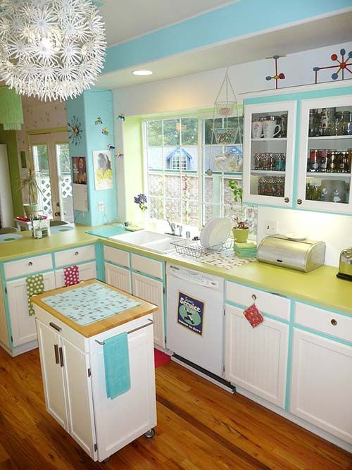 Lora s vintage style kitchen makeover inspired by a single - Vintage Style Kitchen Colors And Retro Renovation On