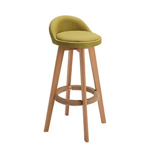 Hqcc Bar Stool Nordic Modern Minimalist Home Solid Wood High Stool Bar Stool Bar Chair Leisure Back Chair Stool Cafe Bar Stools Kitchen Bar Stools Wooden Bar