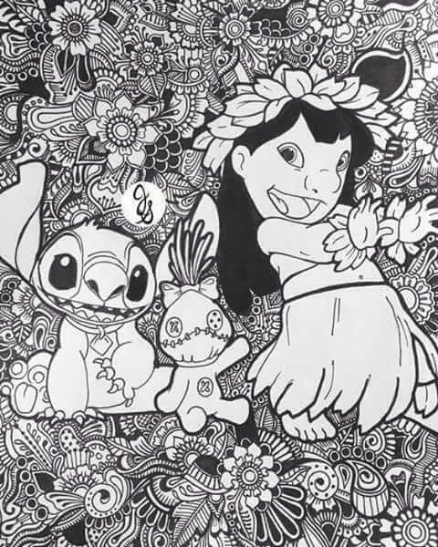 Disney Zentangle Coloring Pages Display