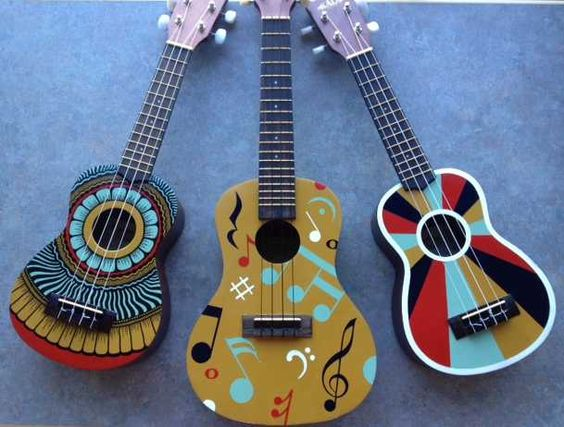 The finalists for NAMM's Excellence Award for Music in Advertising will receive these custom ukes hand-painted by Tyler Warren